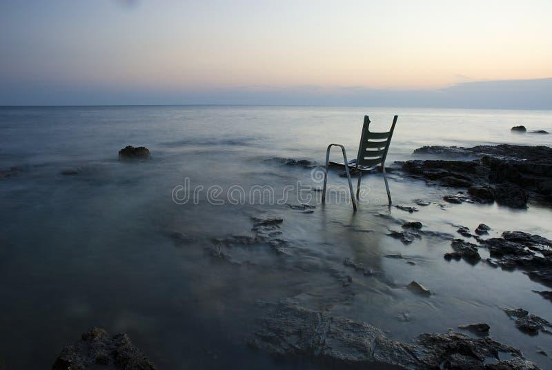 Chair On Shore Stock Photos