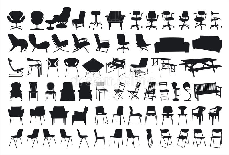 Chair Silhouette stock illustration