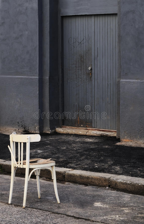 Chair on the Street royalty free stock photo