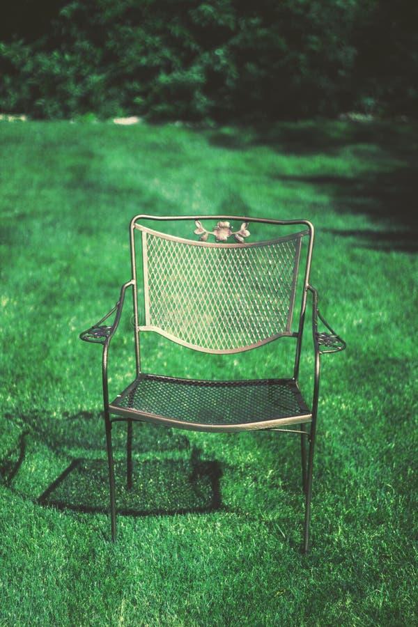 Chair in the sun stock photos