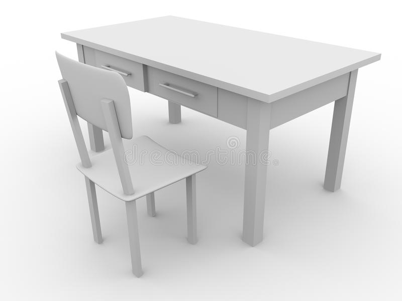 Chair and table vector illustration