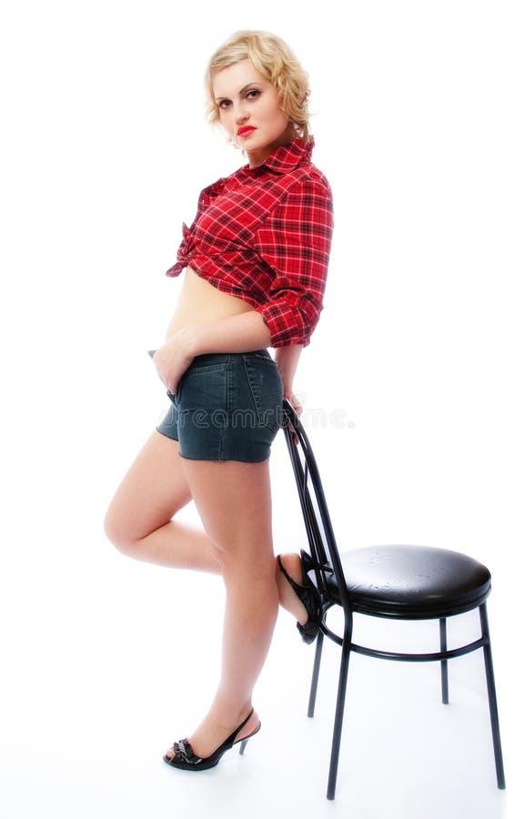 chair woman стоковые изображения
