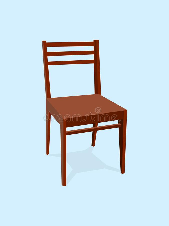 Chair wood classic detailed single object realistic design vector illustration vector illustration