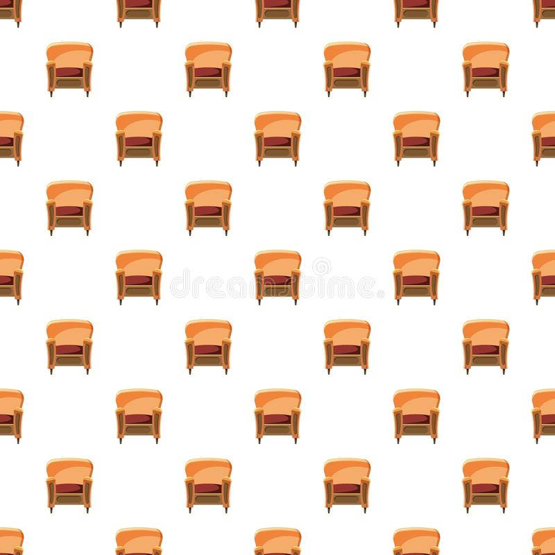 Chair with wood trim pattern royalty free illustration