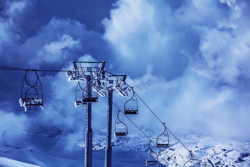 Chairlift σκι στοκ εικόνες