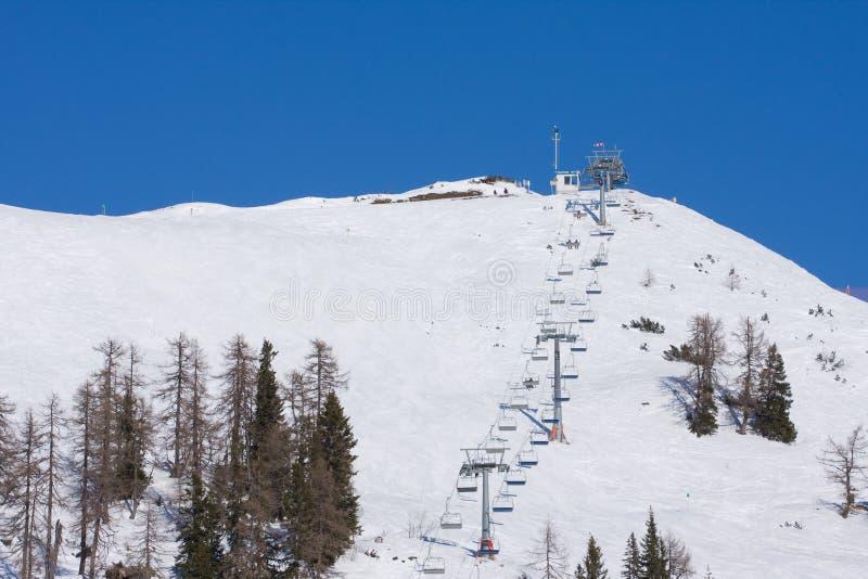 chairlift σκι στοκ φωτογραφίες