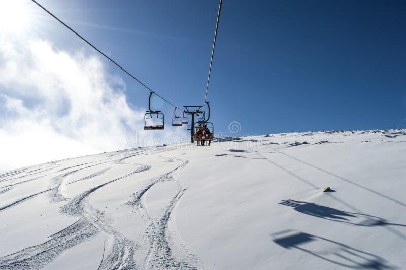 chairlift зима температуры России ландшафта 33c января ural стоковая фотография rf