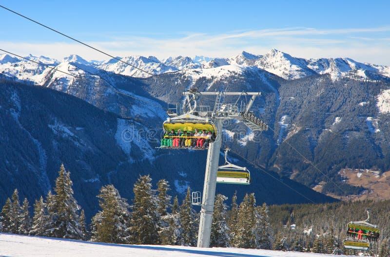 chairlift лыжа schladming курорта Австралии Австралии стоковые фотографии rf