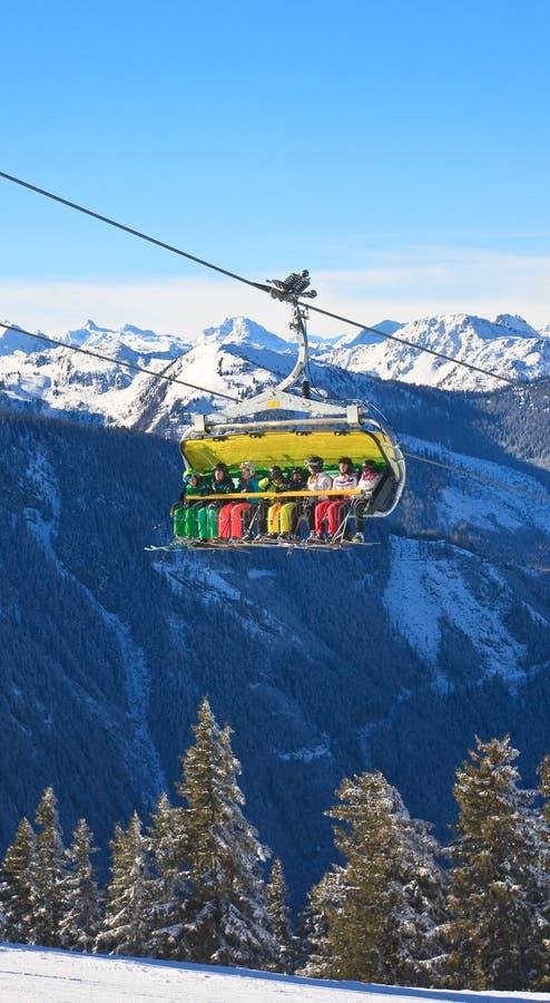 chairlift лыжа schladming курорта Австралии Австралии стоковые фото