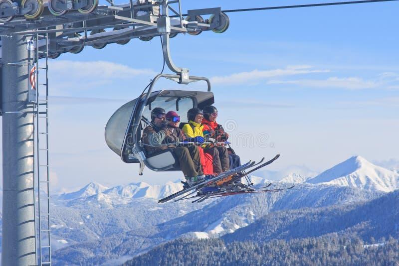 chairlift лыжа schladming курорта Австралии Австралии стоковая фотография