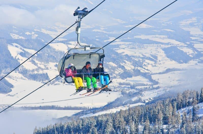 chairlift лыжа schladming курорта Австралии Австралии стоковые изображения