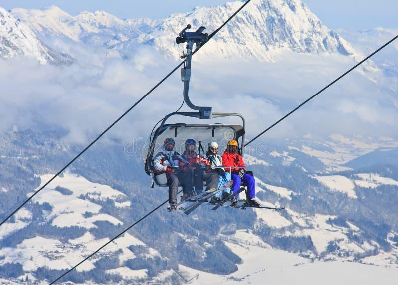 chairlift лыжа schladming курорта Австралии Австралии стоковое фото rf
