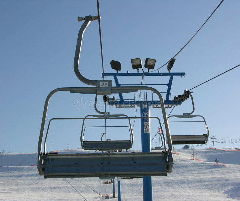 Download Chairlift stock image. Image of winter, stops, technology - 102603