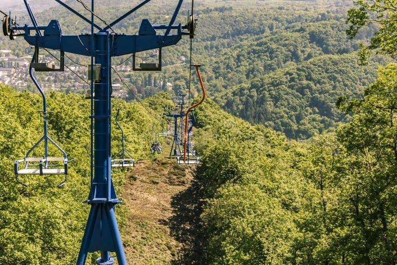 Chairlift Boppard, Tyskland royaltyfri fotografi
