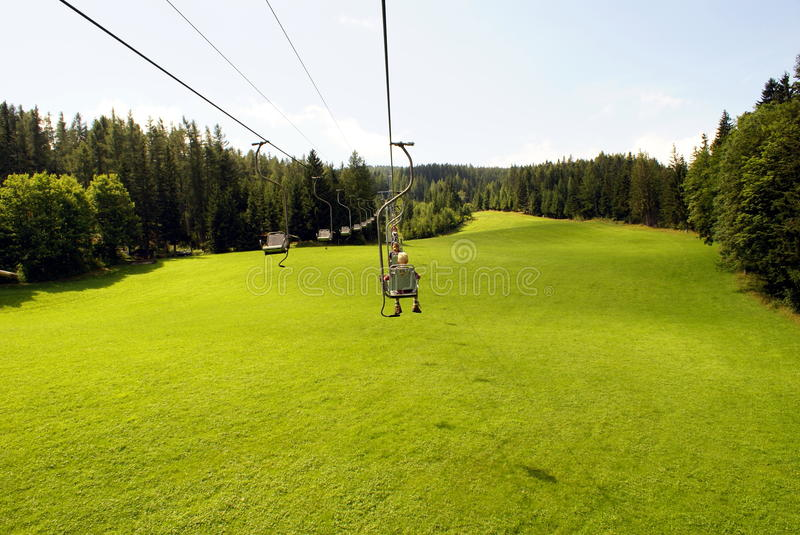 Download Chairlift stock image. Image of glisse, down, leaning - 32683569