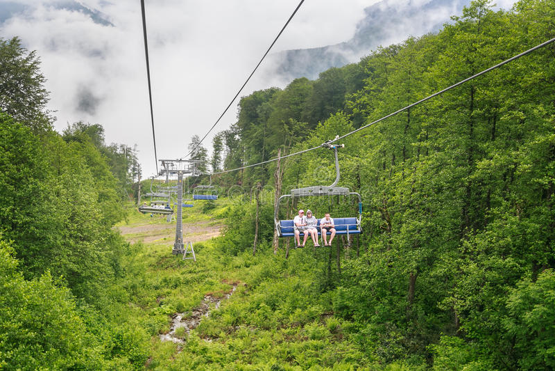 chairlift Estância de esqui foto de stock