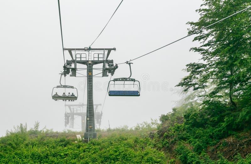 chairlift Estância de esqui imagem de stock