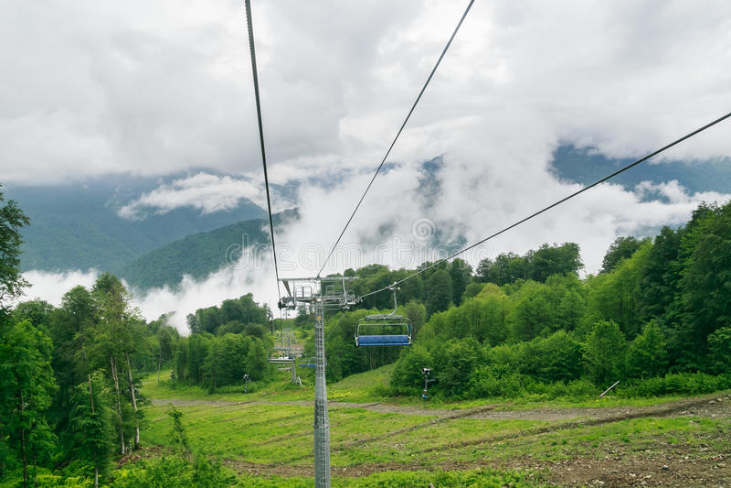 chairlift Estância de esqui Rosa Khutor, Sochi fotografia de stock
