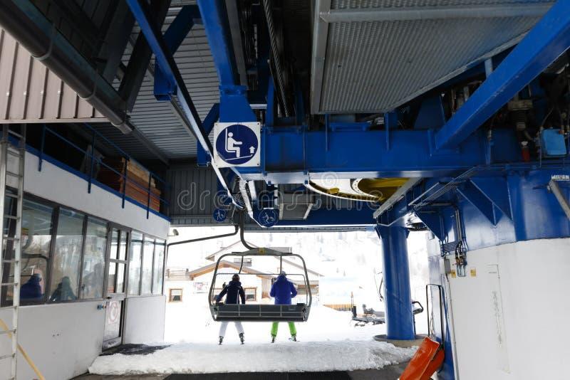 Chairlift Molino - LE Buse στοκ φωτογραφίες