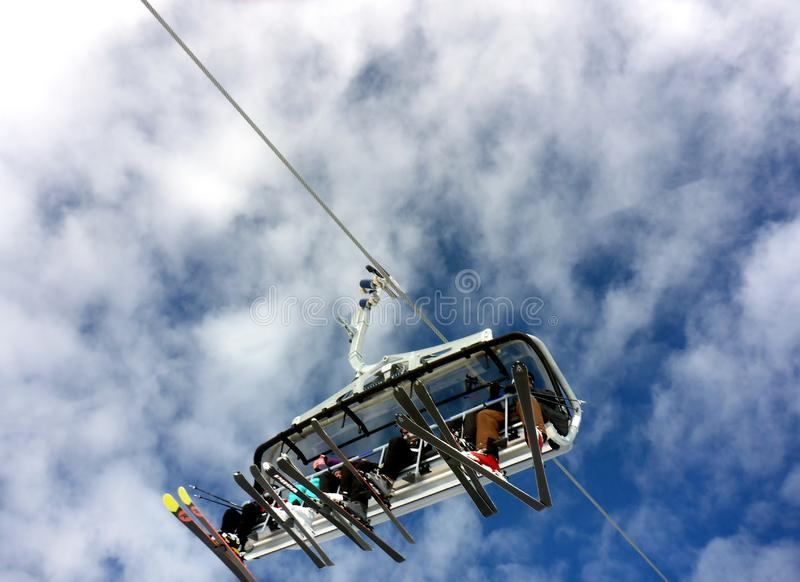 Chairlift With Skiers Free Public Domain Cc0 Image