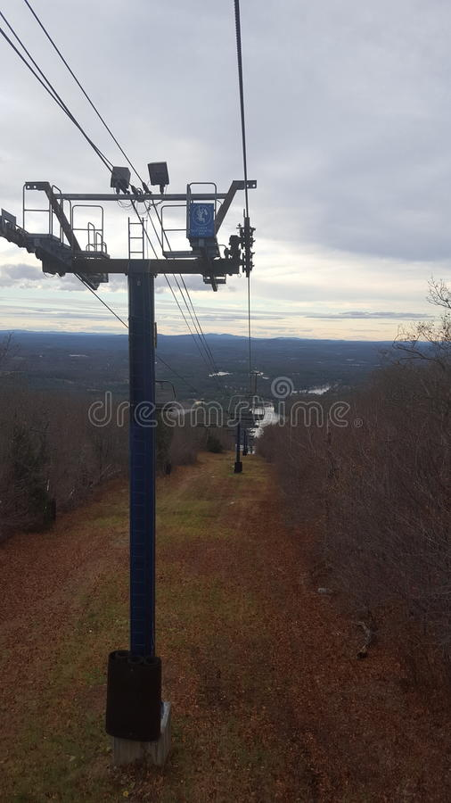 Chairlift view royalty free stock photo