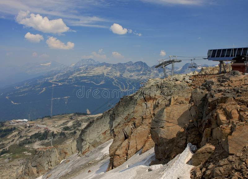 Chairlift in Whistler stock image