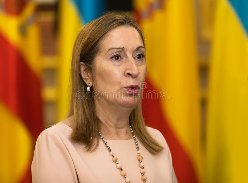 Chairman of the Congress of Deputies Ana Maria Pastor. MADRID, SPAIN - Jun 04, 2018: Chairman of the Congress of Deputies Ana Maria Pastor during a meeting with royalty free stock images