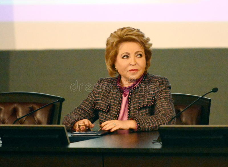 The Chairman Of The Council Of Federation Of The Federal Assembly Of The Russian Federation Valentina Matvienko stock photo