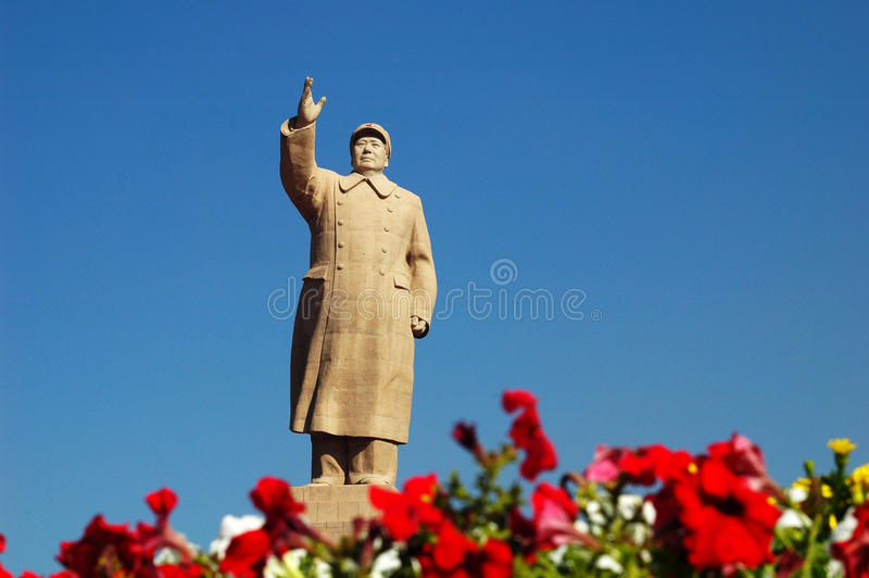Chairman Mao's Statue stock images