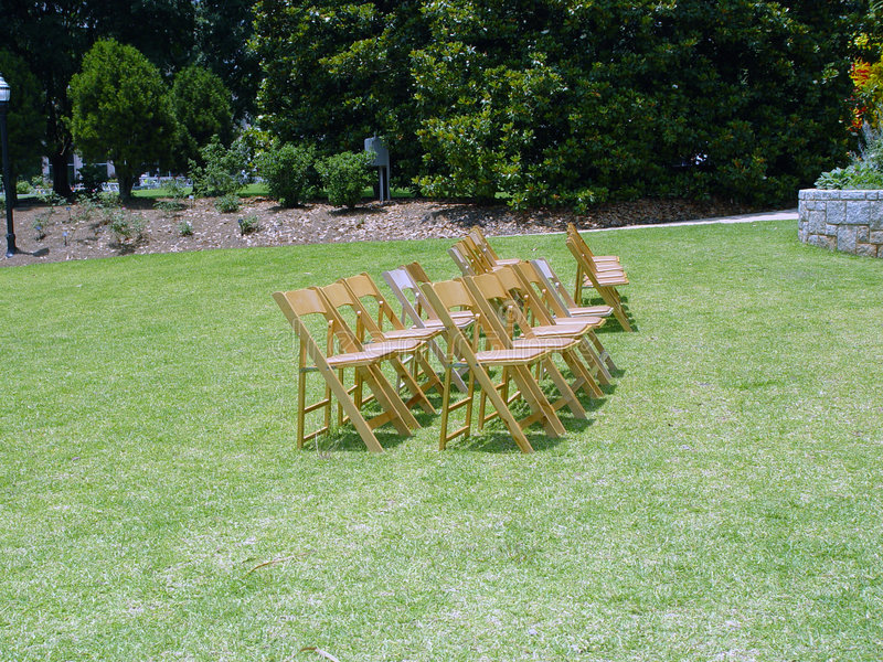 Download Chairs stock image. Image of garden, ceremony, deserted, audience - 6155