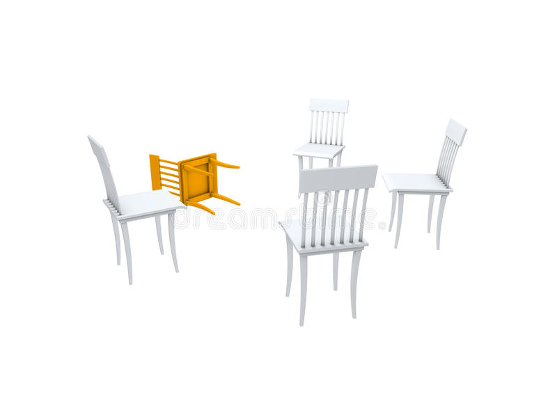 Download Chairs stock illustration. Illustration of company, group - 11573105