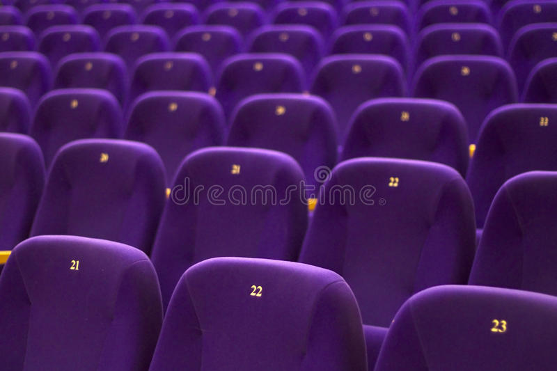 Download Chairs stock image. Image of theatre, armchair, auditorium - 12591077