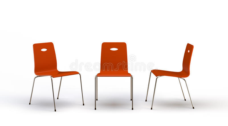 Chairs. On the white background vector illustration
