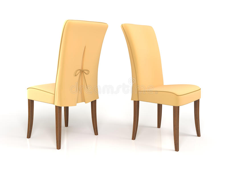 Download Chairs stock illustration. Image of armchair, beige, visualisation - 14151833
