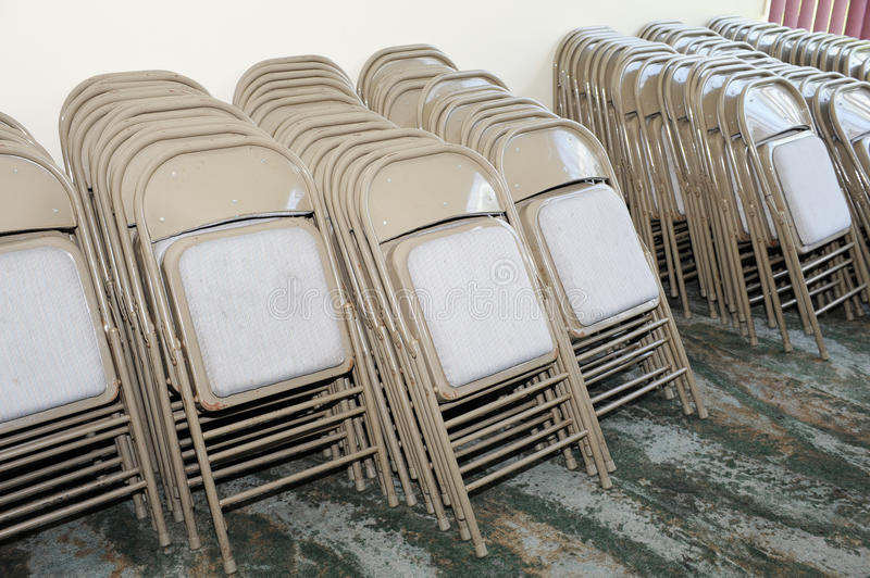Chairs. Many of the chairs in the convention business center stock photo