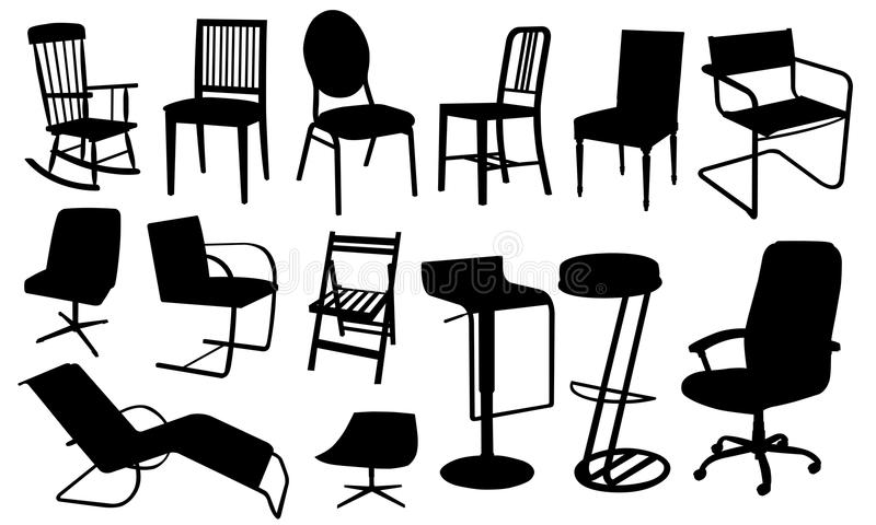 Chairs royalty free illustration