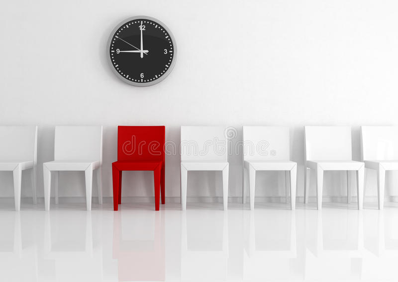 Chairs against wall royalty free stock images