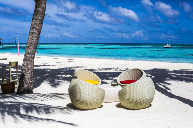 Download Chairs at a beach bar stock photo. Image of holiday, seating - 75985190