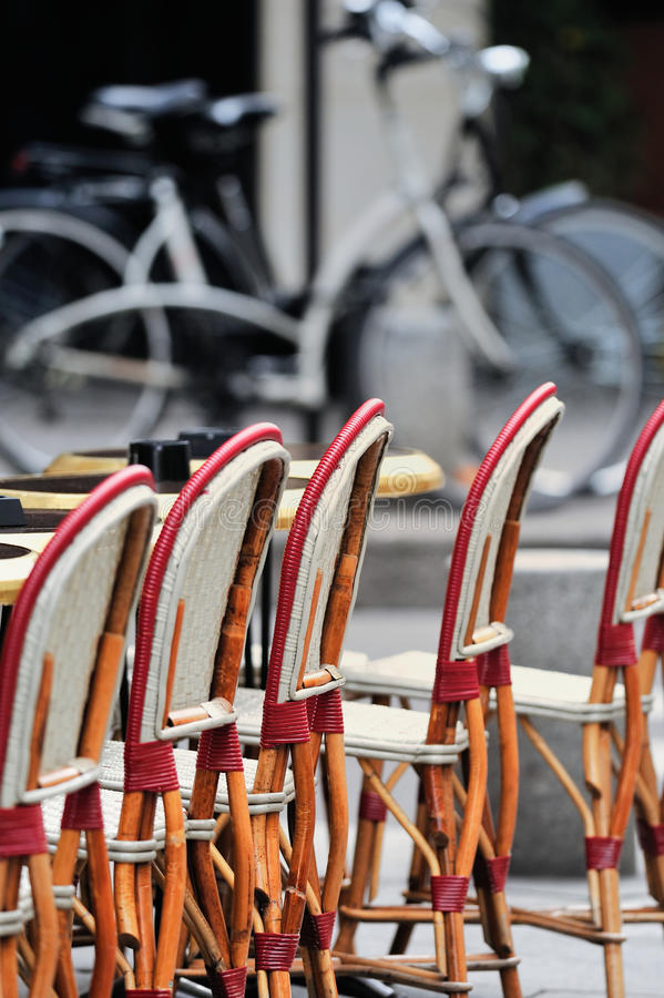 Chairs In Bistro Stock Photos