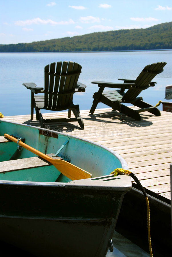 Download Chairs boat dock stock image. Image of freedom, adirondack - 1189677