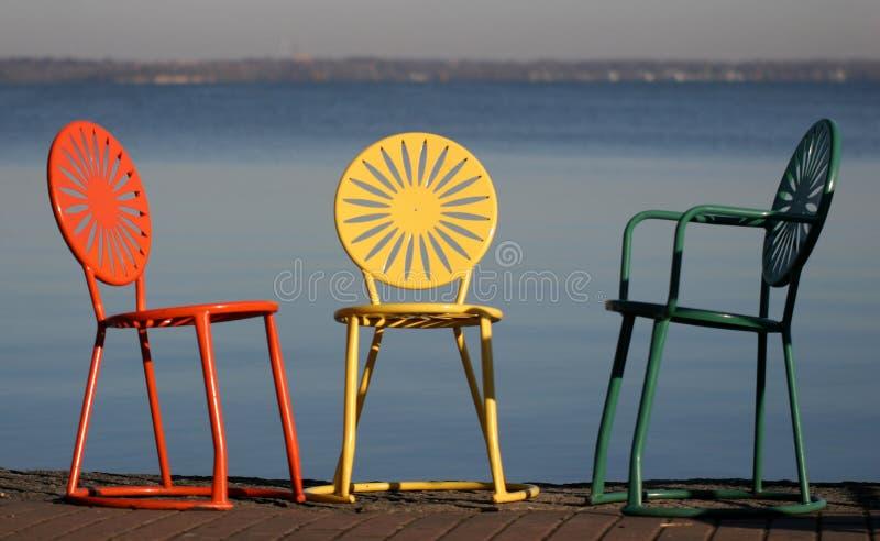 chairs conversational uw fotografering för bildbyråer