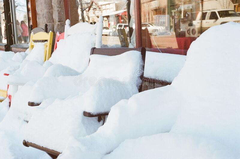 Chairs Covered In Snow Free Public Domain Cc0 Image