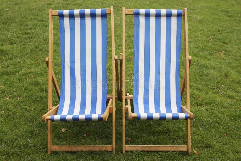 chairs däcket royaltyfri foto