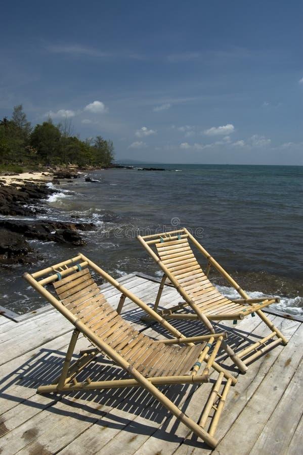 Chairs Däcket Arkivbilder