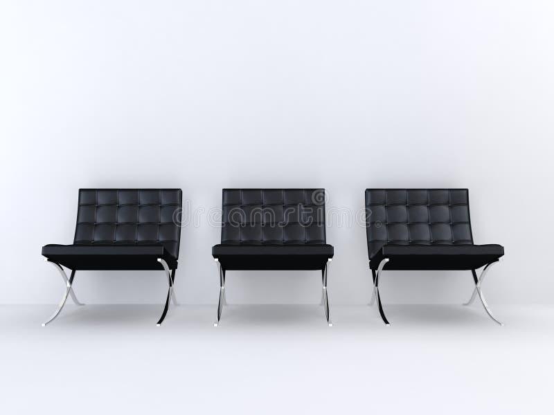 chairs formgivare vektor illustrationer