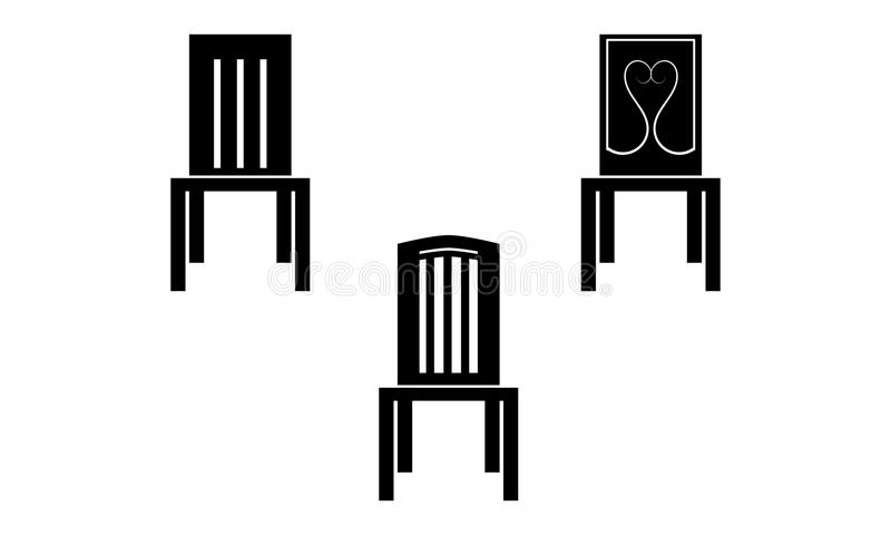 Chairs icon. Image in black color vector illustration