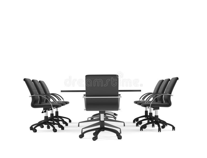chairs konferenskontorstabellen isolerat vektor illustrationer