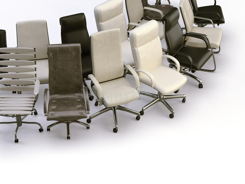 chairs kontoret royaltyfri illustrationer