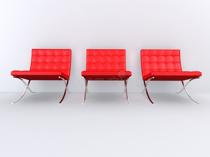 chairs märkes- red vektor illustrationer