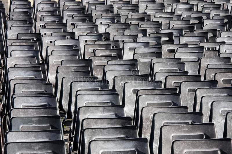 Chairs multitude in series stock images